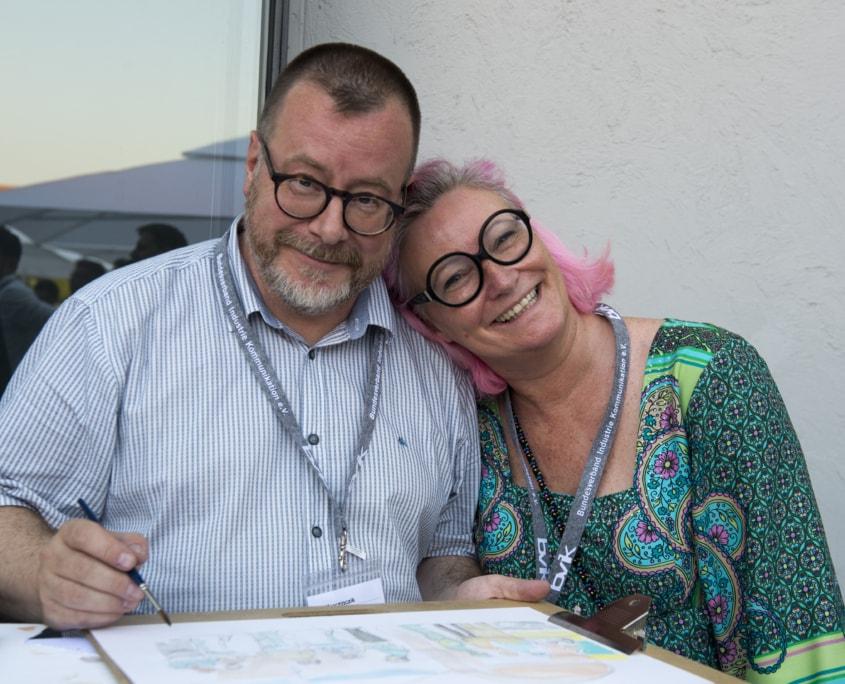 Ralf Marczinczik, Illustrator + Dagmar Gosejacob, Businesszeichnerin