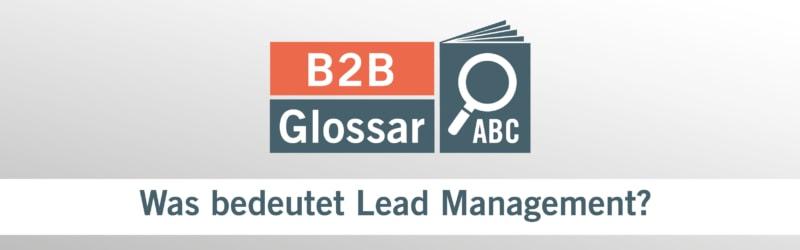 Was bedeutet Lead Management?