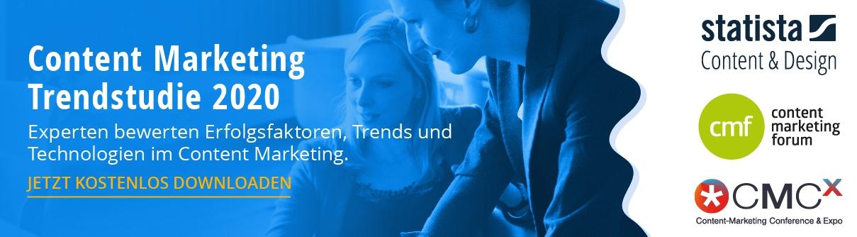 Download Content-Marketing-Trendstudie 2020 von Statista